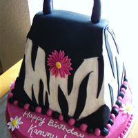 Zebra Purse Cake zebra purse cake. iced in buttercream with fondant accents. tfl!