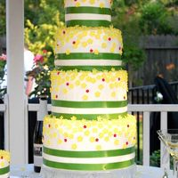"Summer Wedding This was a really fun cake to make! The tiers are 6"", 8"", 10"" and 12"" and each tier is 6"" tall. It is iced in..."