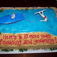 Water Ski Accident Commemoration Cake