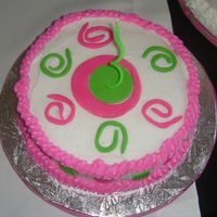 1St Birthday This one was for my niece to dig in. buttercream with fondant accents