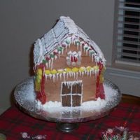 Gingerbread House   Even though this looks like a gingerbread house, it's really all cake and chocolate icing.