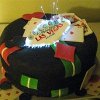 Viva Las Vegas For a friends Las Vegas themed party. Sorry for the poor quality, it was 2am and the lighting was terrible. Chocolate cake covered in...