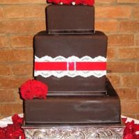 Spanish Romance covered in chocolate satin ice-