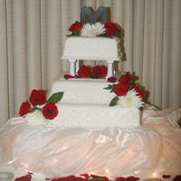 Wedding Cake #2 This was the bride from hell changed her mind atleast 8 times and last was 3 days before wedding. So this is what i came up with. She...