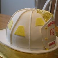 Fire Helmet Fire Helmet cake - followed directions on this site and it worked perfectly!! This was my first MMF project and I was very impressed with...