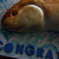 Red Fish Cake Totally Edible Red Fish. Sculpted Cake, covered in buttercream then fondant. Hand painted with gel colors and luster dusts. Thanks for...