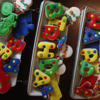 Happy Birthday Cookies Sugar cookies, fondant decorated.Thanks for looking.