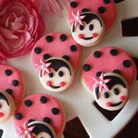 3D Ladybug Cookies All Fondant Decorated sugar cookies.