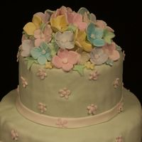 Close Up Of The Flowers All made from fondant.