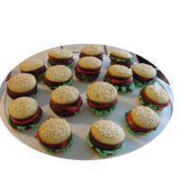 Hamburger Cakes   I made these with mini cup cake tins