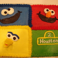 Sesame Street 9x13 made to match childs invitation. TFL