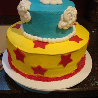 Astro Boy Cake  This was for an Astro Boy Party, but I sent the cake with the customer unfinished, she had yellow shooting stars, and an Astro Boy cake...