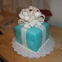 Tiffany Birthday Cake Wow! This was a feat. It's what I envisioned, just not nearly the quality I hoped for! I'm giving up on fondant for a while. This...