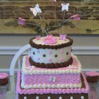 Neapolitan Butterflies This was for my niece's 3rd b-day - she couldn't decide on what flavor she wanted so being the good aunt that I am I made her...
