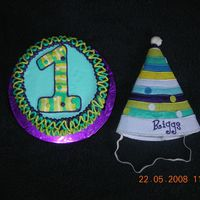 Stripes And Dots This was for a 1st birthday to match the hat. I decided at the last minute to do the FBCT for the #1. This is a 6' smash cake for the...