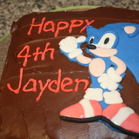 Sonic Cake Last minute Sonic the Hedgehog birthday cake for my nephew. My sister called me Thursday night wanting the cake for Friday dinner, so I...