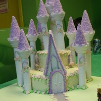 "Princess Castle Cake My 6 year old niece Nisha ""ordered"" a princess castle cake for her birthday. She was very specific about it. She wanted tiers, it..."