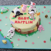 Kaitlin's First Birthday Cake Baby Kaitlin's First Birthday Cake. Her mom wanted a farm theme and picked out Special Cakes/ Tracy's photo (on flickr). Thanks,...