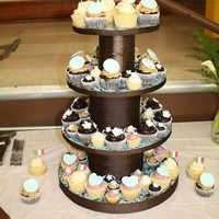 Engagement Cupcake Tower I made these cupcakes for my friends Chris and Carly's engagement party.