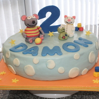 "Toopy And Binoo Made this for my cousin's son. Turns out Damon's a big Patchy Patch fan. It was a 12"" cake that took more work than a tiered..."