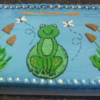 Frog Cake Thank you Michele25. I was stumped for a frog cake until I saw yours.