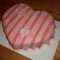 A Simple Valentine My 2nd attempt with Fondant... Not as bad as I expected:)