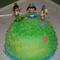 Birthday Dora   I made this for my daughter's 4th birthday. It's supposed to the The Highest Hill from an episode that she loves.