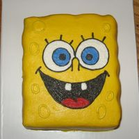 Smash Spongebob   Small 5 x 3 1/2 smash cake covered in buttercream