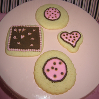 Pink And Brown Cookies