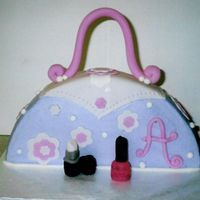 Purse Cake Inspired by two different cakes here on CC. This was made for an 8 year old girl. Butterdream icing with fondant accents.