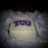 Tcu Groom's Cake Chocolate cake with cream cheese filling.