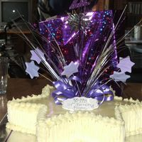 Star 21St Birthday Cake White chocolate mud cake covered in white chocolate ganache and decorated with gumpaste purple stars and purchase foil stars. this was...