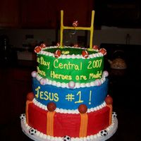 Vacation Bible School Game Day Central Cake 2 This is a different angle of the cake I made for my church's family night celebration tonight. I hope they like it.