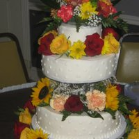 Flowertastic Wedding Cake