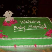 Laura's Cake A last minute baby shower cake...simple and yet cute. I borrowed the idea from a talented CC user. Thanks! :) Regular BC with Fondant...