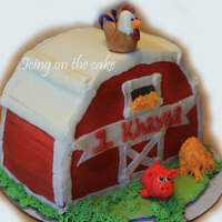 Barn Smash Cake This is all butter-cream except the animals which are fondant. For a first birthday smash cake. This was fun to make but the shape was a...