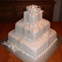 Boxes & Bows Wedding Cake