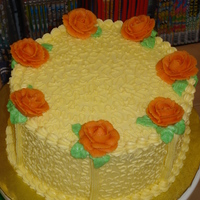 Orange Roses This was a cake I decorated in store for a demo.