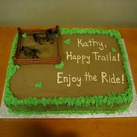 "Horse-Themed Cake For Employee This cake was done for an employee who was leaving the company -- she loves horses. It's a 12 X 18 vanilla cake, 3"" high, all..."