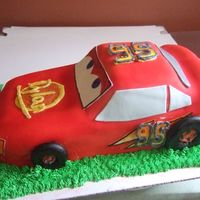 Cars Lightning mmf buttercream, marble cake