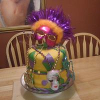 Mardi Gras this was for one of my friends daughters 11th birthday mmf and red velvet cake with cream cheese filling