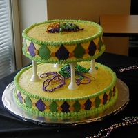 2006 Mardi Gras Office Party I just did this cake for an event at my office for the Executive Admins. Hopefully, this will spark interest in having me do some more of...