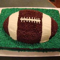Football I made this for a grooms cake.