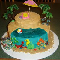 Tropical Island I donated this cake to Rely For Life and it raised $100!!!!!
