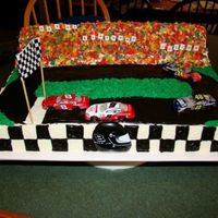 Race Track Cake I made this for a boy that loves nascar. I got the idea from a fellow CCC member, thank you!