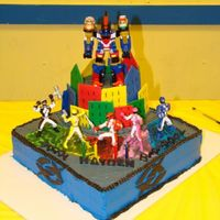 Power Rangers I got the idea from a lot of cakes on CCC!!! Thanks everyone! It had an accident on the way to the party! It messed up the borders around...