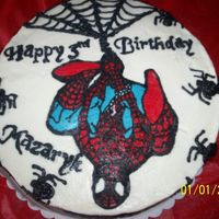 Spiderman   FBCT Spiderman, WASC with chocoate mouse filling, bc spiders and webbing