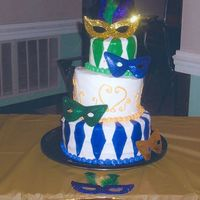 Sweet 16 Mardi Gras Cake This is my first attempt at a whimsical cake that I did for a co-worker's daughter's sweet 16 birthday party. Thanks for looking...