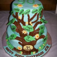 90Th Birthday / Family Tree Cake   A cake for our family on my grandpa's 90th bday
