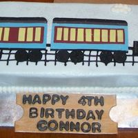 Polar Express   Buttercream with fondant replica of the polar express. Measured 6x30""